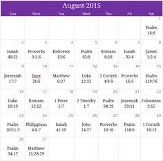 "August 2015 ""Overcoming Anxiety"" prayer calendar. Email calendar@iprayallday.com for monthly devotional & downloadable version of calendar"