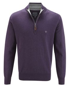 Vedoneire - Mens Half Zip Jumper (4403) in Blue, Aubergine or Claret, £59.99 (http://www.vedoneire.co.uk/mens-half-zip-jumper-4403-in-blue-aubergine-claret/)