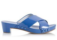8997c9889d91 Pedro Garcia NIKKI Blue patent leather criss-cross clog sandals