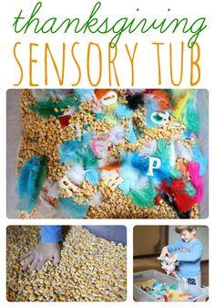 Thanksgiving Sensory Tub