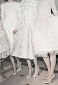 Detail of backstage at Valentino Haute Couture S/S 2013