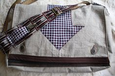 Upcycled messenger bag- Made to Order, Eco Friendly, OOAK. $85.00, via Etsy.