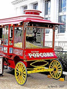 Popcorn Wagon Charcoal effect