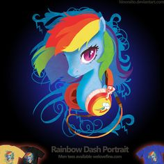 Welovefine: MLP FIM - Rainbow Dash Headphone by =hinoraito on deviantART