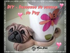 DIY Aula descanso de caneca - YouTube Clay Jar, Clay Mugs, Polymer Clay Animals, Polymer Clay Crafts, Quilling Cards, Pasta Flexible, Clay Tutorials, Cold Porcelain, Clay Creations