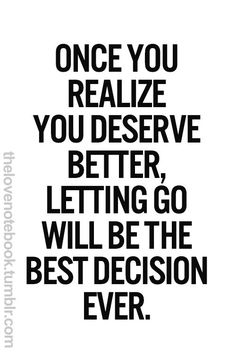Letting Go was the best thing that changed my life!!!!
