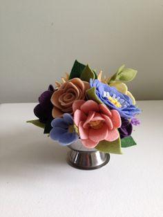 Felt Flower Arrangement // Felt Flower Bouquet by MillStreetMakes