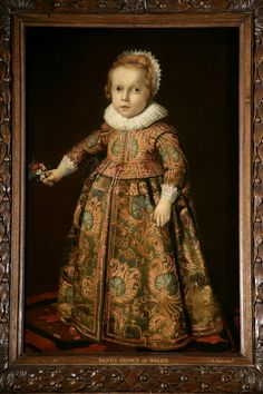 Unknown artist, portrait of a Young Boy, 1620's, Royal Collection.