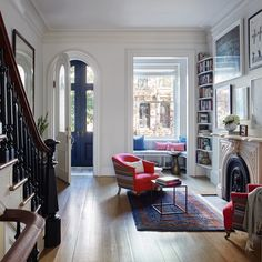 Love this except for the horrid little window seat.  Brooklyn brownstone remodel (from apartments to single family house) by architect Drew Lang | Remodelista