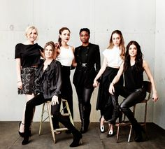 Ladies of The 100 || Eliza Jane Taylor, Paige Turco, Lindsey Morgan, Adina Porter, Alycia Debnam-Carey, Marie Avgeropoulos || The 100 cast || Clarke Griffin, Dr. Abby Griffin, Raven Reyes, Indra, Commander Lexa, Octavia Blake