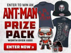 #AntMan Last day to enter to win the ANT-MAN Prize Pack! Valued over $100!!!
