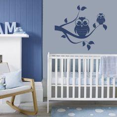 Muursticker - Interieursticker Twee uilen. Baby Nurseries IdeasModern NurseriesNautical Boy ... & 26 Baby boys bedroom design ideas with modern and best theme: best ...