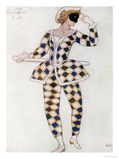★ Harlequin design by Leon Bakst for The Sleeping Princess 1921