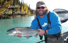 Jason's Guide Service was voted among all Kenai River Fishing Guides. Come fish for trophy rainbow trout, Dolly Varden and sockeye and silver salmon. Going Fishing, Best Fishing, Ice Fishing, Alaska Salmon Fishing, Dolly Varden, Kenai River, King Salmon, Down The River, Fishing Techniques
