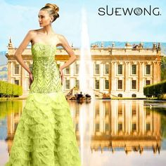 Sue Wong strapless ivory gown with delicate seutache beaded bodice and full crinoline scallop tiered skirt… #teamsuewong #suewong #fashion #hautecouture #couture #picoftheday #glamorous #colorful
