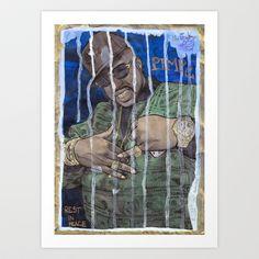 DEAD RAPPERS SERIES - Pimp C Art Print by Ibbanez - $20.80