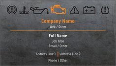 Get inspired by 125 professionally designed Mechanics & Auto Body Business Cards templates. Customize your Business Cards with dozens of themes, colors, and styles to make an impression. Car Repair Service, Auto Service, Business Card Logo, Business Card Design, Car Oil Change, Visiting Card Design, Care Logo, Mechanical Design, Garage Design