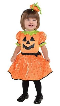 They're the cutest pumpkin in the whole patch in this pumpkin costume for baby. Baby Little Pumpkin Costume includes a pumpkin dress and headband. Baby Pumpkin Costume, Pumpkin Halloween Costume, Baby In Pumpkin, Cute Pumpkin, First Halloween, Little Pumpkin, Halloween Fancy Dress, Baby Halloween Costumes, Pumpkin Leaves