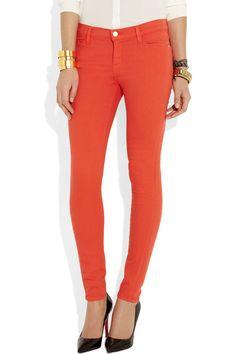Frame Denim Le Color mid-rise skinny jeans NET-A-PORTER.COM