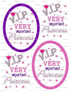 DIY Printable VIP Very Important Princess Shrinky by MaddieZee, $1.50