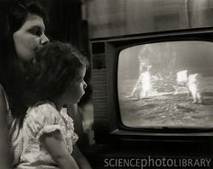 1969 - Staying up to watch the moon landing. Stayed up with my Mum and then went to the window to look at the moon. There was a man up there.!!