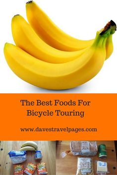The best foods for bicycle touring need to replace calories quickly, and not break the bank. Here are some bicycle touring staples to keep you fuelled. touring Best Foods for Bicycle Touring Touring Bicycles, Touring Bike, Bicycle Workout, Cycling Workout, Bicycle Women, Bicycle Maintenance, Cool Bike Accessories, Mountain Biking, Campers