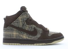 "dunk high pro sb ""tweed"" Flight Club, Classic Sneakers, Nike Dunks, Baroque, Tweed, Footwear, Brown, Shoes, Fashion"