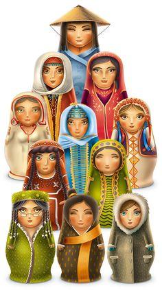 International Matryoshka Dolls