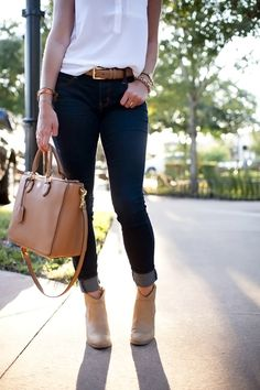 Booties and Jeans