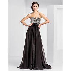 Sheath/Column Sweetheart Floor-length Chiffon And Sequined Evening Dress – USD $ 195.99