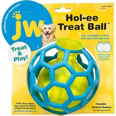 JW Pet Hol-ee Treat Ball Dog Toy. My babies LOOOOVE this! They fight over who gets to play with it so i'm getting a second. Great purchase! :)
