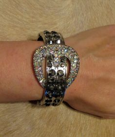 Cowgirl Bling Buckle Bracelet Belt Smokey & AB Rhinestones bangle Gypsy silver our prices are WAY BELOW RETAIL! ALL JEWELRY SHIPS FREE! baha ranch western wear ebay seller id soloedition www.baharanchwesternwear.com