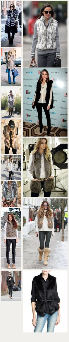 Tendencia: Chalecos de pelo - Tiendas Dressup Providencia http://tiendasdu.cl/blog-ropa-mujer-femenina-moda/tendencia-chalecos-de-pelo.html