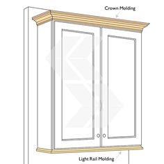 molding for kitchen cabinets tops | Crown Molding (TOP) vs. Light Rail Molding (BOTTOM)