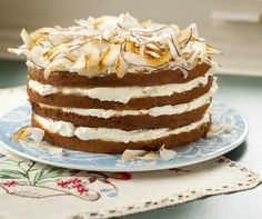 Coconut cake with white chocolate ganache  http://www.penguin.com.au/lantern/kitchen/recipes/coconut-cake-white-chocolate-ganache