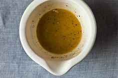 A CUP OF JO: The Best French Vinaigrette You'll Ever Have - very similar to the French Vinaigrette my French aunt and uncle make, but nix the anchois. Good Food, Yummy Food, Tasty, Sauces, Food Porn, Food 52, Raw Food, Soup And Salad, So Little Time