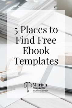 Creating valuable content for your audience and your customers is hard work, especially when you throw designing into the mix! If you're looking for a free PDF template for your next eBook, check out these 5 resources that offer free eBook templates!