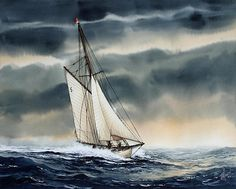 Storm Sailing by James Williamson - Storm Sailing Painting - Storm Sailing Fine Art Prints and Posters for Sale