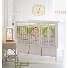 Perfect and adorable for a baby girl! Green, pink, bows and damask! What more could you want?