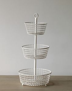 3 Tier Basket Stand Find Something Like This To Organize Diapers Supplies