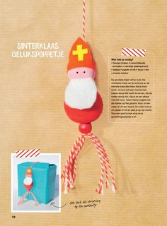 DIY Superlief Sint Nicolaas - Sinterklaas Gelukspoppetje!
