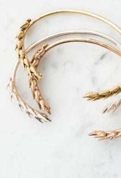 Botanical Wheat Bracelets | Etsy
