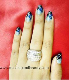 Geometrical Nail Art Tutorial photo