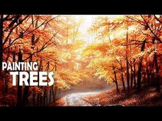 How to Paint Autumn Trees   Acrylic Painting - YouTube