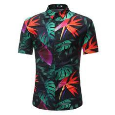 Beach Shirts, Summer Shirts, Hawaii Shirts, Moda Men, Mens Hawaiian Shirts, Short Shirts, Look Cool, Printed Shirts, Printed Blouse
