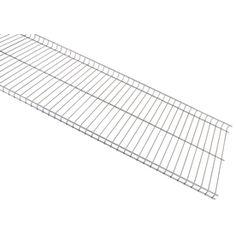 Rubbermaid FastTrack Garage 4-ft L x 16-in D Satin Nickel Wire Shelf