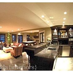 Contemporary Basement Photos Black And White Kitchens Design, Pictures, Remodel, Decor and Ideas - page 3