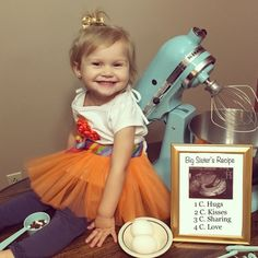 Big sister announcement. Big sister's Recipe.