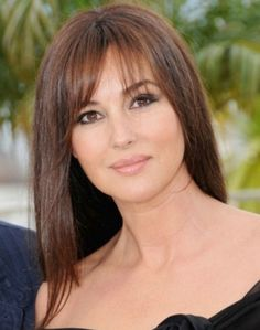 Monica Bellucci. I can't deal with how gorgeous she is! Italian, talented, dark hair, dark eyes, ugh! She's lovely! -Ella