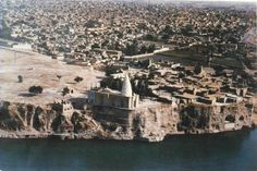 Rudband Shrine and the City along the Dez River, Dezful City, Khuzestan Province.